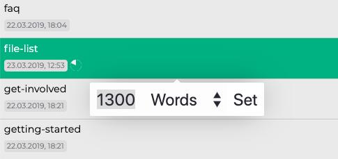 Setting the Writing Target