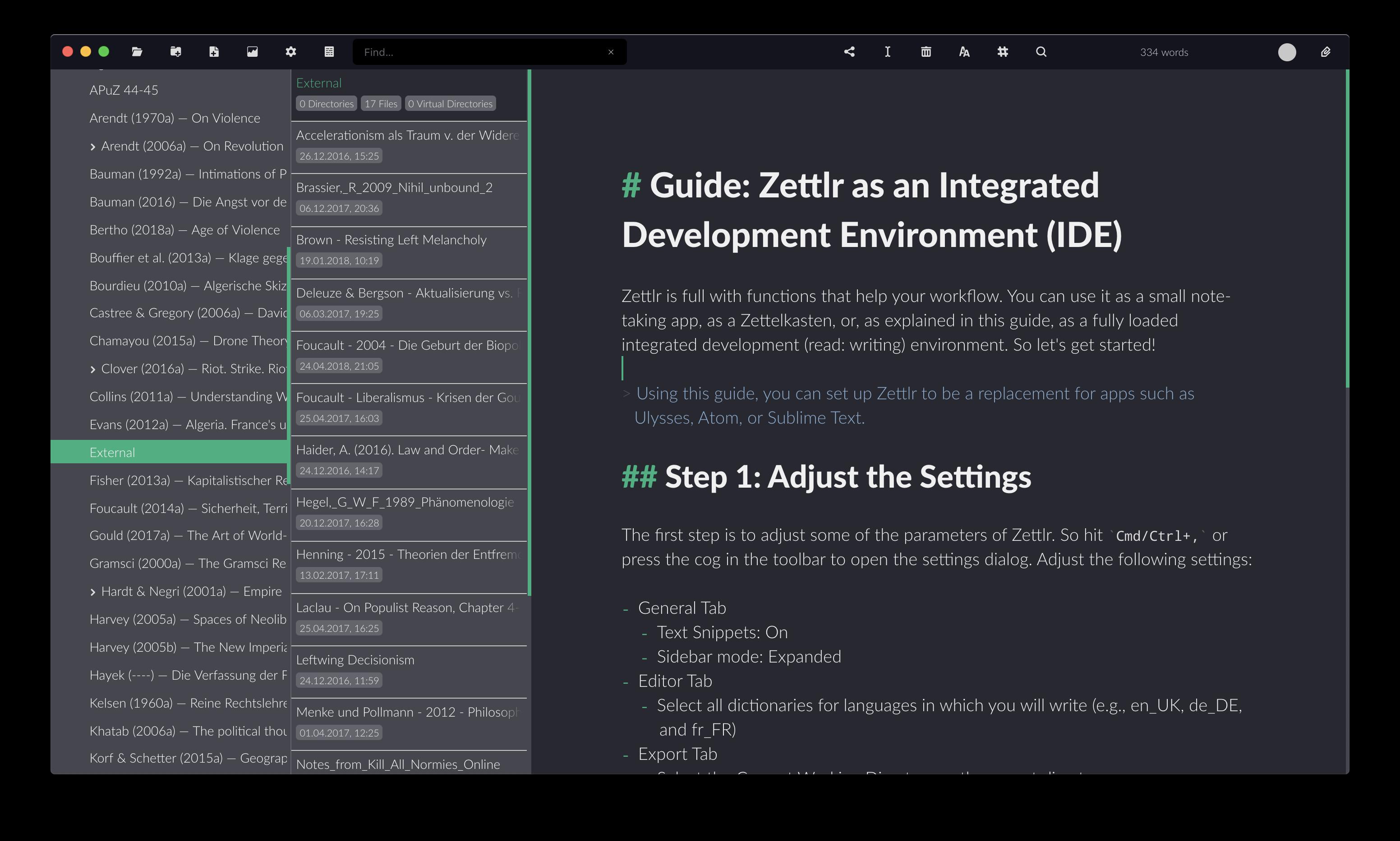Zettlr as an IDE