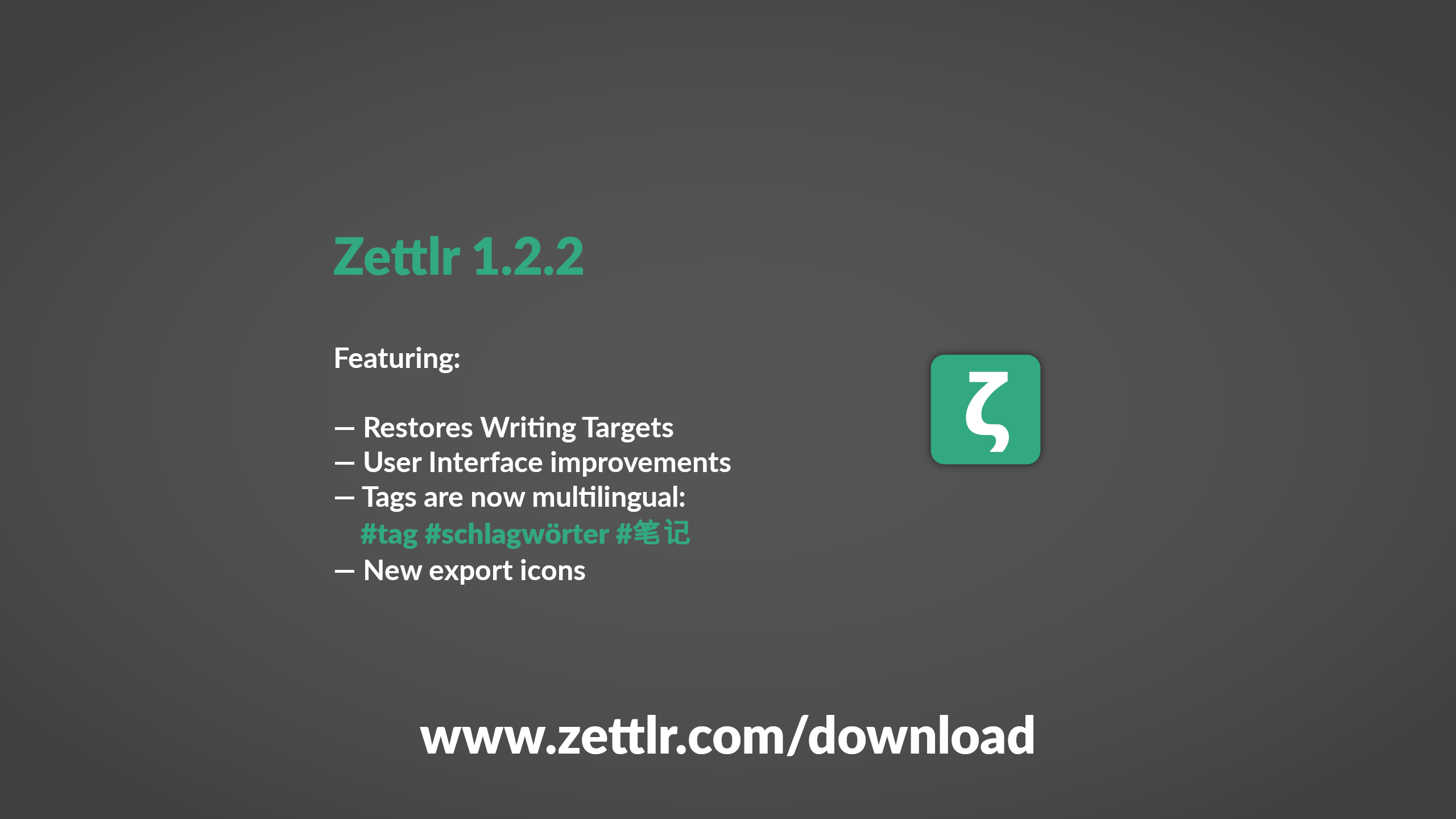 Zettlr 1.2.2 Released