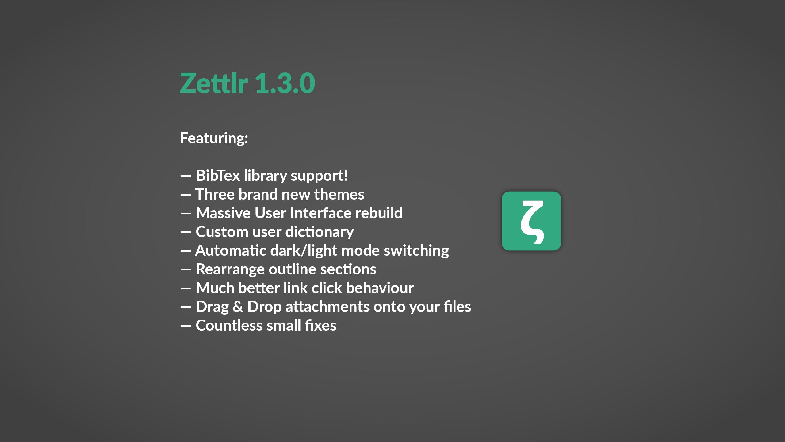 Zettlr 1.3.0 released