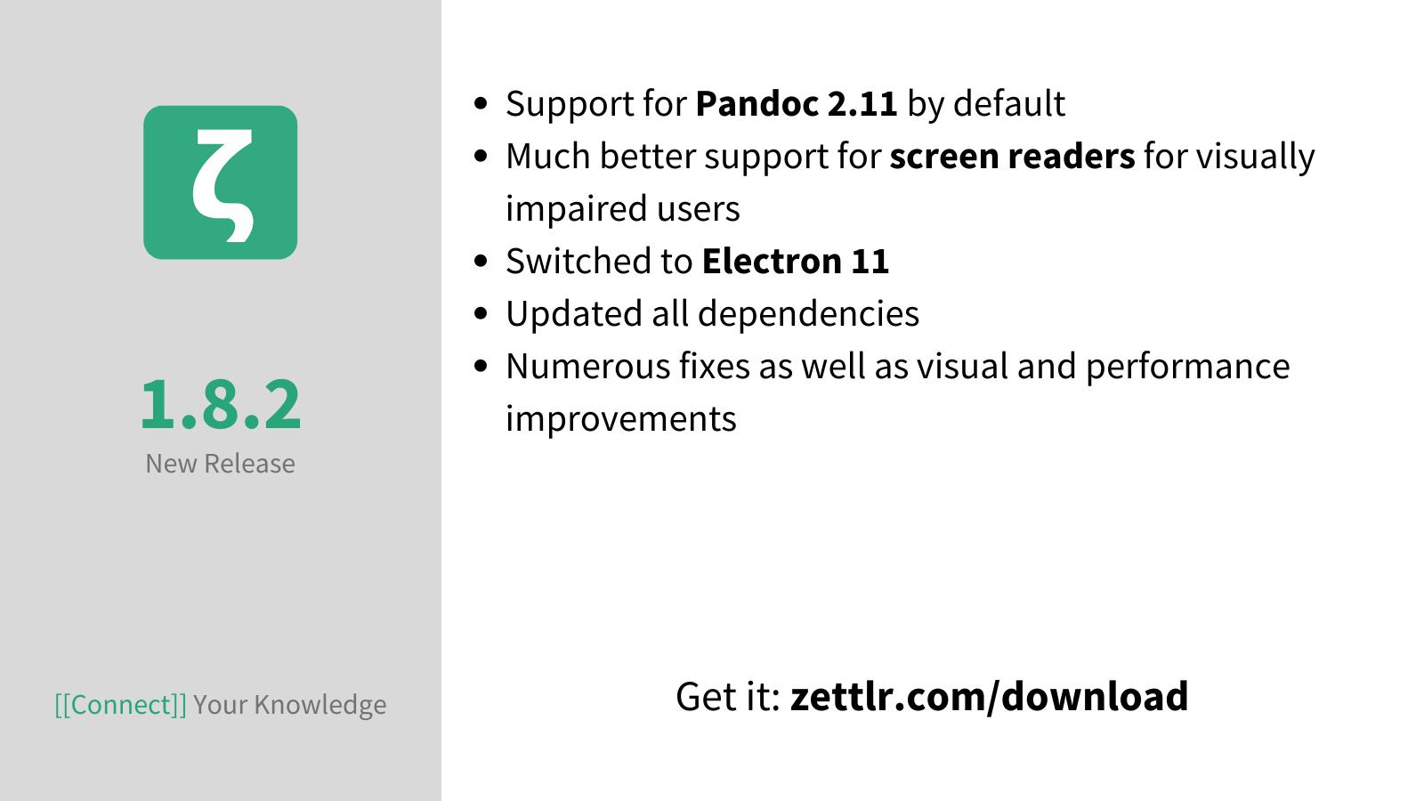 Zettlr 1.8.2 released
