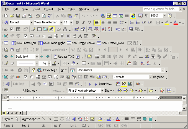 Welcome to the Word toolbar horror
